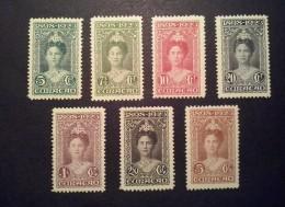 Curacao / Nederland 1923 Jubileumzegels Zegels Ongebruikt (NVPH: 75-81) - Curaçao, Nederlandse Antillen, Aruba