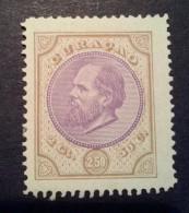 Curacao / Nederland 2½gulden 1873/1899 Koning Willem III Zegel Ongebruikt (NVPH: 12) - Curaçao, Nederlandse Antillen, Aruba