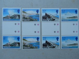 Y163 Falkland - Dependencies 117 - 120 Gutterpair Mnh - Falkland