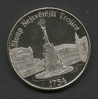 Czech Republic, Olomouc, Trinity Column, Souvenir Jeton, White - Tokens & Medals