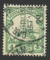 German East Africa, 4 H. 1905, Sc # 23, Mi # 23, Used, Dar-es-Salaam - Colony: German East Africa