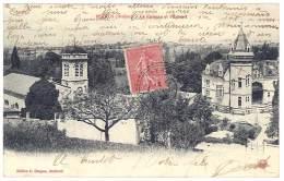 Cpa Peyrus - Le Château Et L'église ( Cachet Perlé ) - Autres Communes