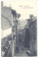 Cpa Crest - Carcavel Ou Rue Saint-François - Crest