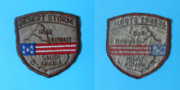DESERT STORM ( Iraq , Kuwait , Saudi Arabia ) Original Old Patch * USA US Army Armee Military Militaire Ecusson Flicken - Patches