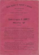 CASSA RURALE DI DEPOSITI E PRESTITI - Racalmuto  /  Libretto Di Risparmio Numero 30 _ Emissione 1° Gennaio 1909 - Azioni & Titoli