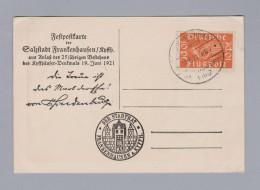 DR 1921-06-19 Frankenhausen Feldpostkarte Der Stadt - Briefe U. Dokumente