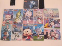 TOT Chip Phonecard,Pang Pond Animation,set Of 12 Cards, Mint - Thaïlande