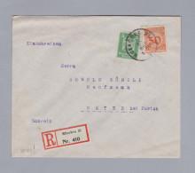 DR 1925-03-30 Muenchen 55Pf R-Brief Nach Uster ZH - Deutschland