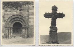 15 - BREDONS - La Croix Et Le Portail De L´Eglise - 2 Photos De 1959 - Places