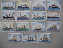 Y183 Falkland - 255 - 269 II Mnh, Schiffe Post Postschiffe - Falkland