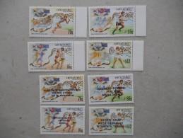 Y188 Cook-Inseln Islands, Aitutaki 632 - 635, 638 - 641 Mnh Olympiade Seoul 1988 - Aitutaki
