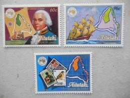 Y189 Cook-Inseln Islands, Aitutaki 537 - 539 Mnh AUSIPEX 84, Melbourne - Aitutaki