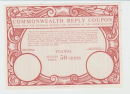 UGANDA TRES RARE COUPON REPONSE COMMONWEALTH REPLY  50 CENTS  NEUF  TRES TRES BIEN - Uganda (1962-...)