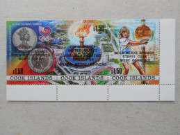 Y193 Cook-Inseln Islands 1260 - 1262 Zdr Olympiade Seoul Tennis - Aitutaki
