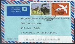 Zambia 1992  Sc#577 K100 Antelope  &  1998 Sc#712 K900 Dove On Cover - Zambia (1965-...)
