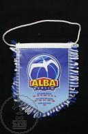 Sport Advertising German Basketball Team Alba Berlin Cloth & Paper Pennant/ Flag/ Fanion - Habillement, Souvenirs & Autres