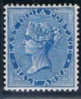 British India, 1865/73, # Y 18, MH - India (...-1947)