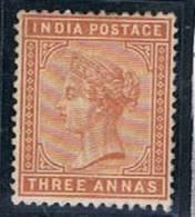 British India, 1882/3, # Y 38, MH - India (...-1947)