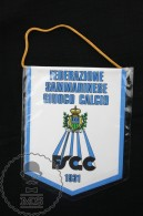 Sport Advertising Cloth Pennant/ Flag/ Fanion Of The San Marino Football Federation FSGC - Habillement, Souvenirs & Autres