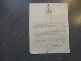Association Des DAMES Françaises 1893, Convocation Illustrée, Avec Signatures ; Ref 651  VP 03 - Historical Documents