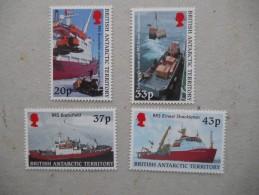 Y197 BAT Brit Antarctic Terr., Gebiete Antarktis 307 - 310 Mnh Forschungsschiffe - Ungebraucht