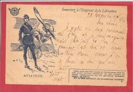 Y &T N°  CORRESPONDANCE DES ARMEES L'AVIATEUR  1905  3 SCANS - Tarjetas De Franquicia Militare