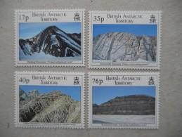 Y203 BAT Brit Antarctic Terr., Gebiete Antarktis 241 - 244 Mnh Geologie - Ungebraucht