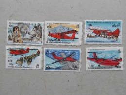 Y206 BAT Brit Antarctic Terr., Gebiete Antarktis 215 - 220 Mnh Hong-Kong 94 Aufdruck - Ungebraucht