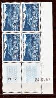 Andorre 150A Bloc De 4 Coin Daté 24 7 1957 Neuf * * TB  MNH Sincharnela Cote 70 - Neufs