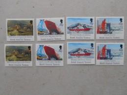 Y210 BAT Brit Antarctic Terr., Gebiete Antarktis 185 - 188, 189 - 192 Mnh Forschungsschiff James Clark Ross + Faraday - Ungebraucht