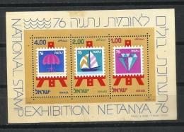 """Israel. 1976_Exposición Nacional De Sellos """"Netanya 76"""" - Hojas Y Bloques"""