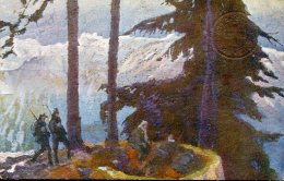 10896 Italia, Cartol. Postale Comm.,viaggiata 1916 Da Tricesimo Udine A Ventimiglia, Tommaso Cascella Un Nido Di Alpini - Autres