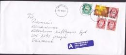 Norway A PRIORITAIRE Par Avion Label SØFTELAND 1998 Cover Brief Denmark Posthorn Stamps - Norwegen