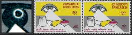Bangladesh Abart, Varity, Michel-Nr. 72 **, Blindheit, Scott No. 109 MNH, Blindness, Punkt Im Auge, Dot In Eye, Günter H - Bangladesh
