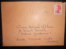 Saint Pierre Et Miquelon Lettre De St Pierre 1988 Pour Toulon - Lettres & Documents