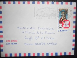 Saint Pierre Et Miquelon Lettre De St Pierre 1988 Pour Monte Carlo - Lettres & Documents