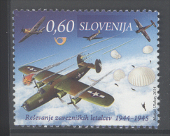 SLOVENIA ,2014 ,MNH, WWII, PALNES, PARACHUTISTS, 1v - Guerre Mondiale (Seconde)