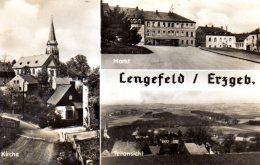 Lengefeld Im Erzgebirge - S/w Mehrbildkarte 1 - Lengefeld