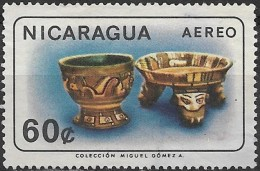 NICARAGUA 1965 Air. Nicaraguan Antiquities - 60c. - Bowl And Dish  FU - Nicaragua