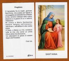 SANTINO MODERNO SANT'ANNA SANTA ANNA CON PREGHIERA NUOVA SERIE - Images Religieuses