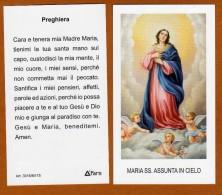 SANTINO MODERNO MARIA SS ASSUNTA IN CIELO CON PREGHIERA NUOVA SERIE - Images Religieuses