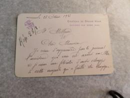 Grand Vaux Chat Carte Félicitation à Mollard De Trégastel Pour Avoir échappé Naufrage De Son Yacht 1923 Bretagne - Autographes
