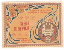 Etiqueta Crema De Naranja. Destileria La Bohemia - Spanje