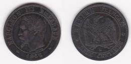 2 CENTIMES NAPOLEON III TETE NUE 1856 Ma   (voir Scan) - France