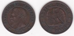 2 CENTIMES NAPOLEON III TETE NUE 1856 W SUPERBE   (voir Scan) - B. 2 Centimes