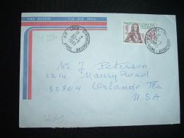 LETTRE Pour USA TP YT 2250 DECOUVERTE DE LA LOUISIANE 3,25 OBL.30-5-1983 LAON CENTRALISATEUR (02 AISNE) - 1961-....