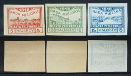 Polen Lokale Post Stadt Przedborz 1918 Mi.Nr.15,16,17 ** Postfrisch     (H170) - Ungebraucht