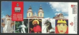 Austria, Melk Abbey, Entry Ticket - Tickets - Vouchers