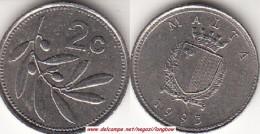 MALTA 2 CENTS 1993 (Lira) - KM#94 - Used - Malta