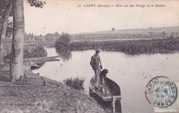 CPA 80 @ CAPPY Près BRAY Sur SOMME @ Une Vue Des Etangs De La Somme En 1905 - Frankreich